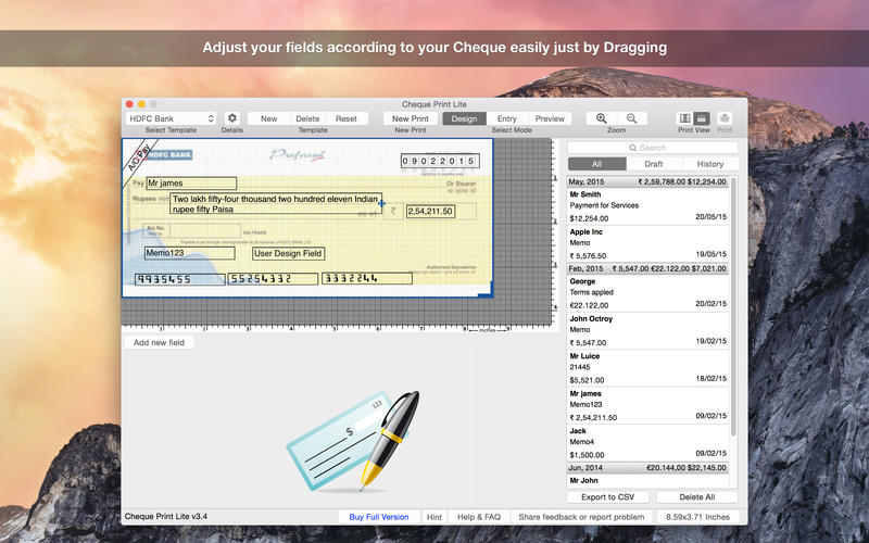 Cheque Print Lite Screenshot - 1
