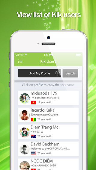 K Usernames - For Kik Messenger