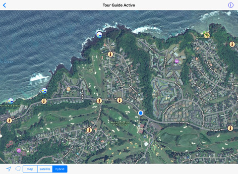 Kauai GPS Tour Guide iPad Screenshot 2