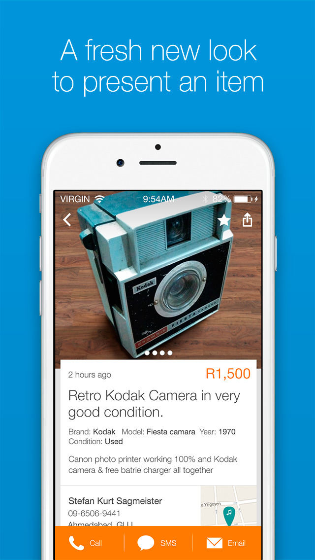 Screenshots of OLX Free Classifieds for iPhone