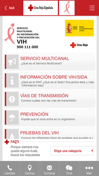 VIH SIDA Cruz Roja Española