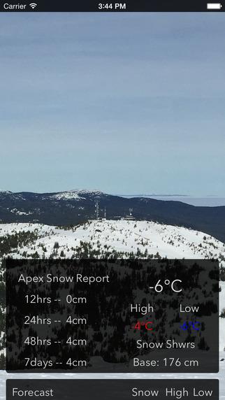 Apex Snow Report