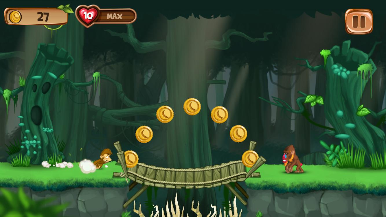 香蕉岛 穿越丛林运行 – 猴子亚军街机游戏图片