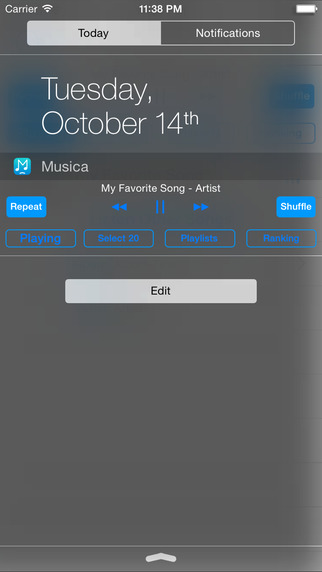 Musica - Widget Player