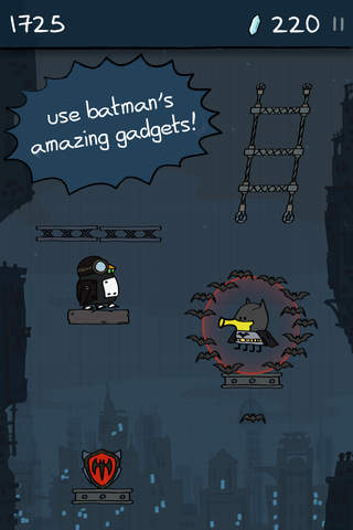 Screenshot of Doodle Jump DC Super Heroes