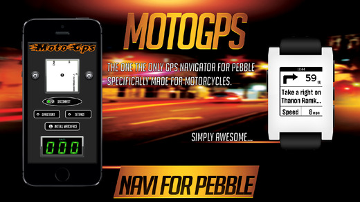 Moto GPS FREE-GPS Navigation Speedometer and Speed Limit Alert for Pebble Smartwatch