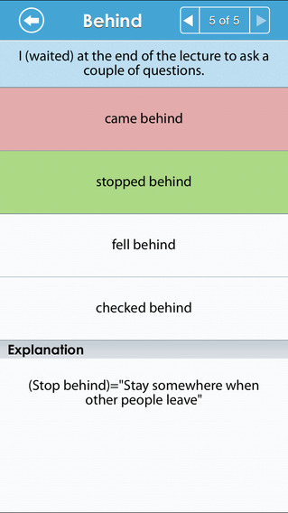 Grammar Up: Phrasal Verbs iPhone Screenshot 4
