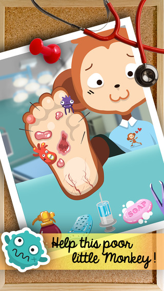 `` Animal Little Foot Doctor `` health surgery makeover kids games
