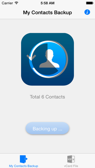 My Contacts Backup Pro Easy contacts backup