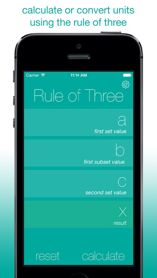 Three Rule of 3 Calculator