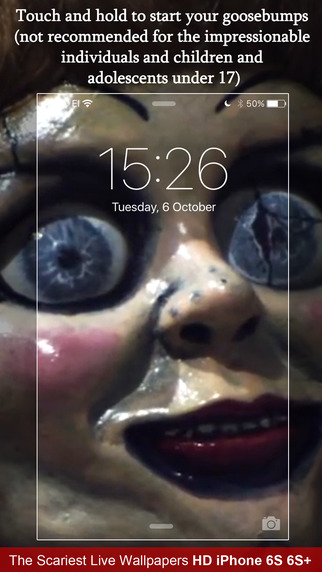 Scariest Live Wallpapers HD for iPhone 6s and 6s Plus. Screenshots