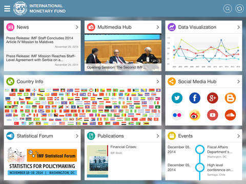 IMF News and Data for the iPad iPad Screenshot 1