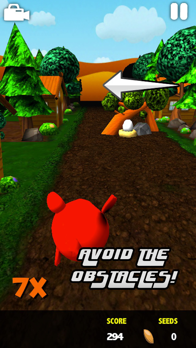 Purdy Red Pigeon PRO: Endless 3D Flyer