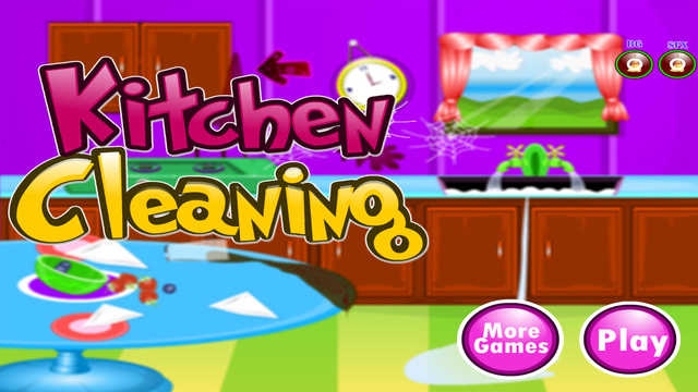 Kitchen Clean up - Games for girls