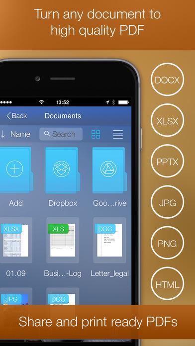 PDF Printer for iPhone iPhone Screenshot 1