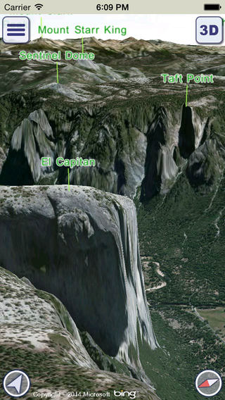 GeoFlyer 3D Map US Canada - GPS Tracks Routing and Offline Maps for Hiking Biking and the Outdoors