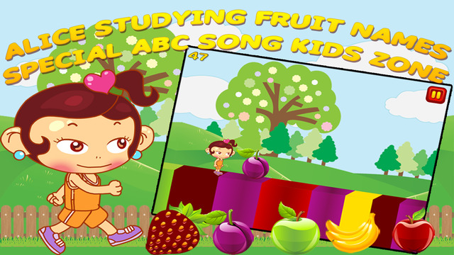 Alice Studying Fruit Names - Special ABC Song Kids Zone