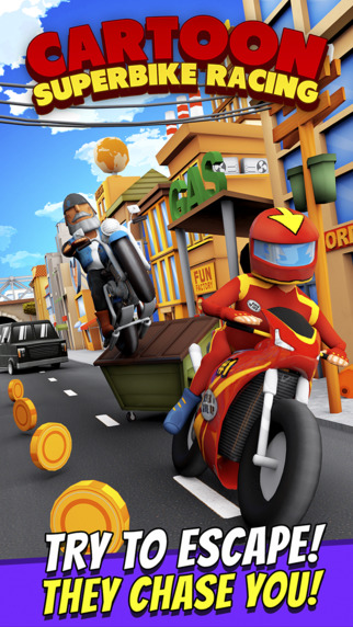 【免費遊戲App】Cartoon Superbike Free - 3D Motorcycle Racing Game for Children-APP點子