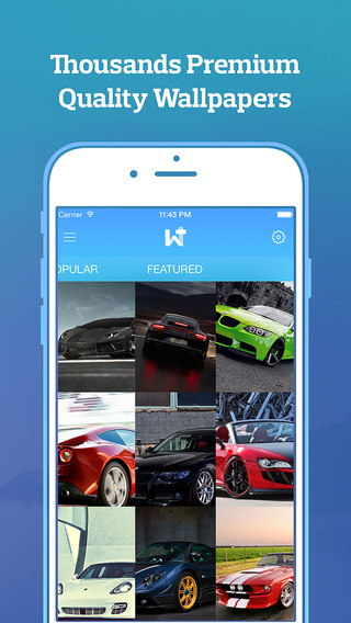 WallzPlus - 5000+ Premium HD Wallpapers for iOS 8 iPhone 6 6+ iPod and iPad
