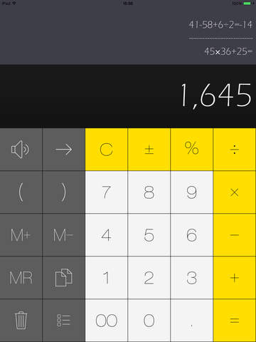 Calculator HD Pro for History Calculation Statistics and Replication