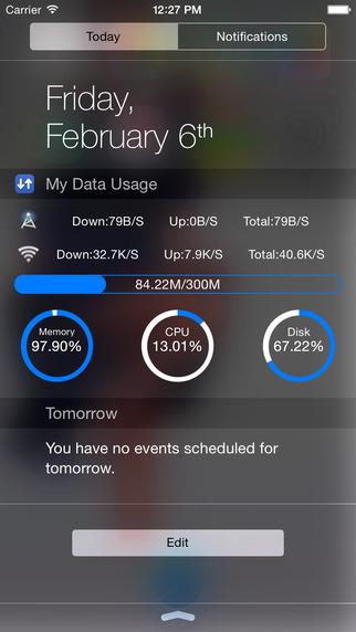 My Data Usage Widget
