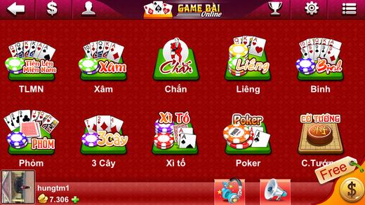 Game Bai BigOne - Danh Bai Tien Len Chan Phom Ba Cay Lieng Xi To Online