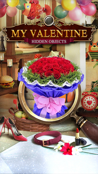 Hidden Objects - Sweet Valentine Kiss