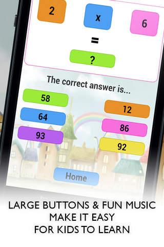 Screenshot 1 Kids Learn Math Game - Free kids educational app to teach maths skills