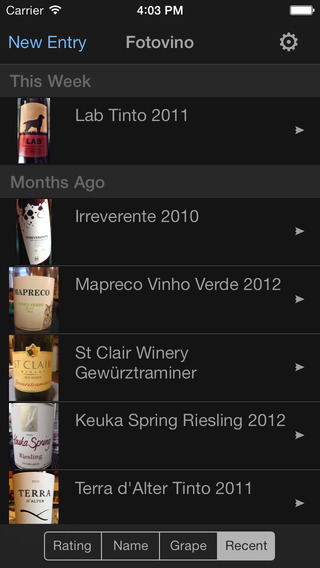 Fotovino - a wine diary your wine tasting journal in pictures.