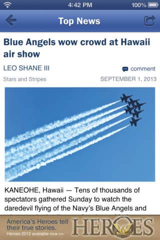 Stars and Stripes Military News screenshot 2