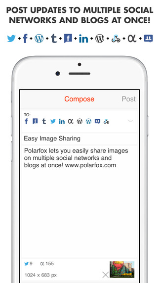 Polarfox: Share images on multiple social networks and blogs at once