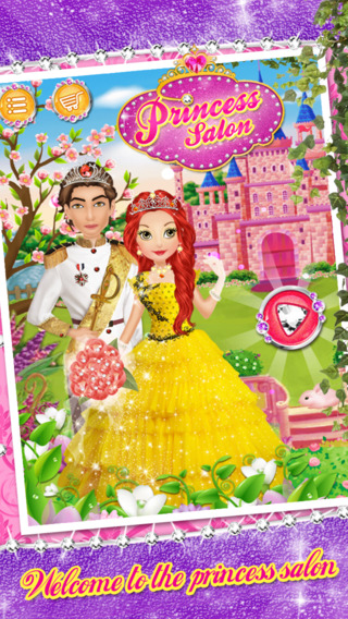 Princess Spa Salon - Royal Enchanted Fairy Makeup Dress Up