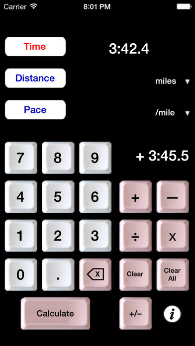 The Athlete's Calculator iPhone Screenshot 2
