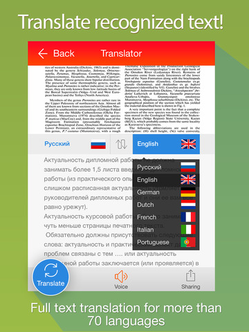 Scanner & Translator Free - convert photo to text and make translation to more than 90 languages screenshot