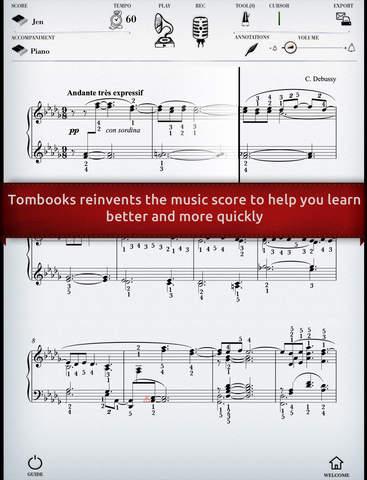 Play Debussy – « Moonlight » interactive piano sheet music