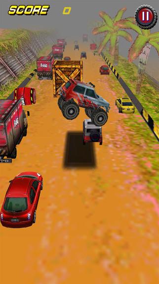 Racing car monster truck 3D