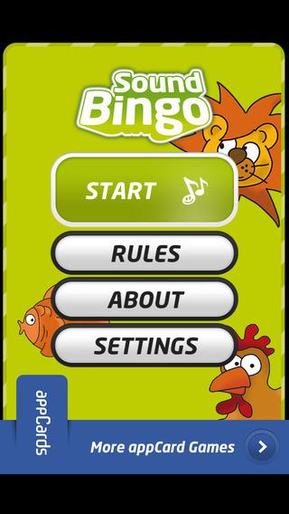 Sound Bingo for appCards®