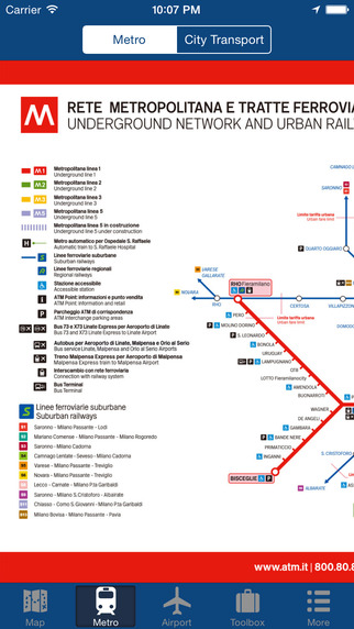 Milan Offline Map - City Metro Airport Screenshots