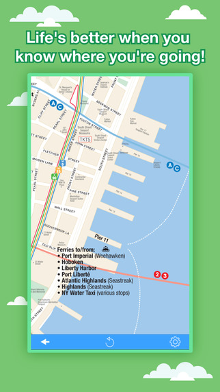 New York City Maps - NYC Subway and Travel Guides Apps free for iPhone/iPad screenshot