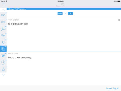 Croatian English Dictionary & Translator iPad Screenshot 3