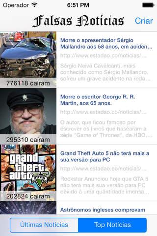 Falsas Notícias screenshot 1