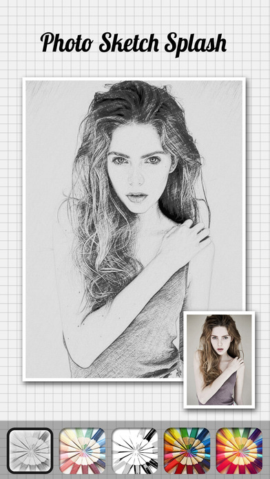 Screenshots of Photo Sketch Splash - My Pencil Drawing with Portrait Filter Effects for iPhone