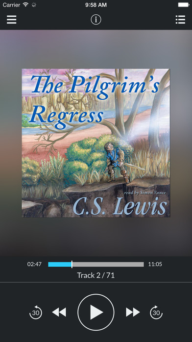 The Pilgrim's Regress (by C. S. Lewis) iPhone Screenshot 1