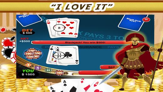 Zeus Blackjack 21 PRO - High Roller Vegas Casino-style Game