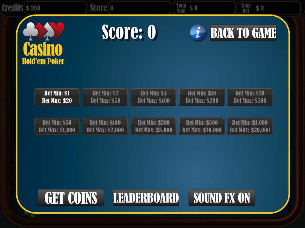Casino texas holdem vs dealer