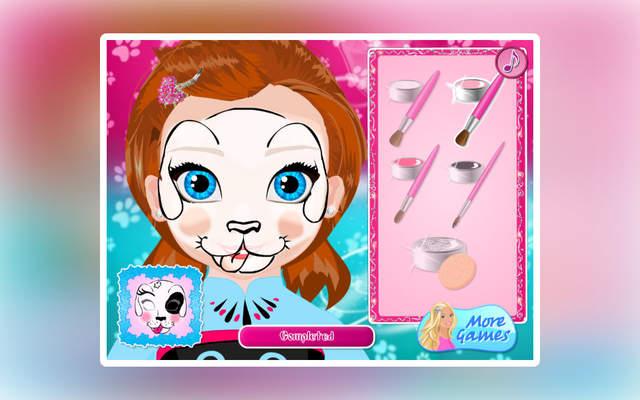 可爱的小宝贝安娜今天打算尝试一下脸部彩绘