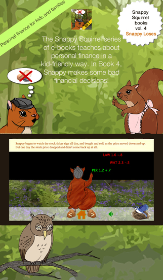 Snappy Loses - Snappy Squirrel e-book volume 4 - Learn about personal finance money day trading savi