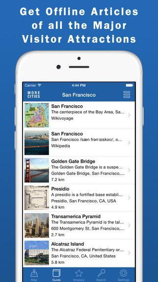 San Francisco Travel Guide Offline Map