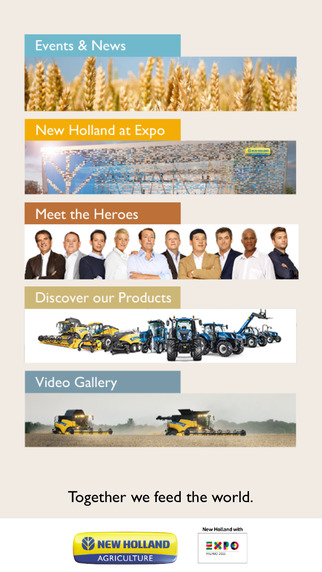 New Holland Agriculture Expo Milano 2015 Official app