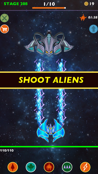 Idle Alien Hunter: Space Fighter Avengers --- incremental clicker games